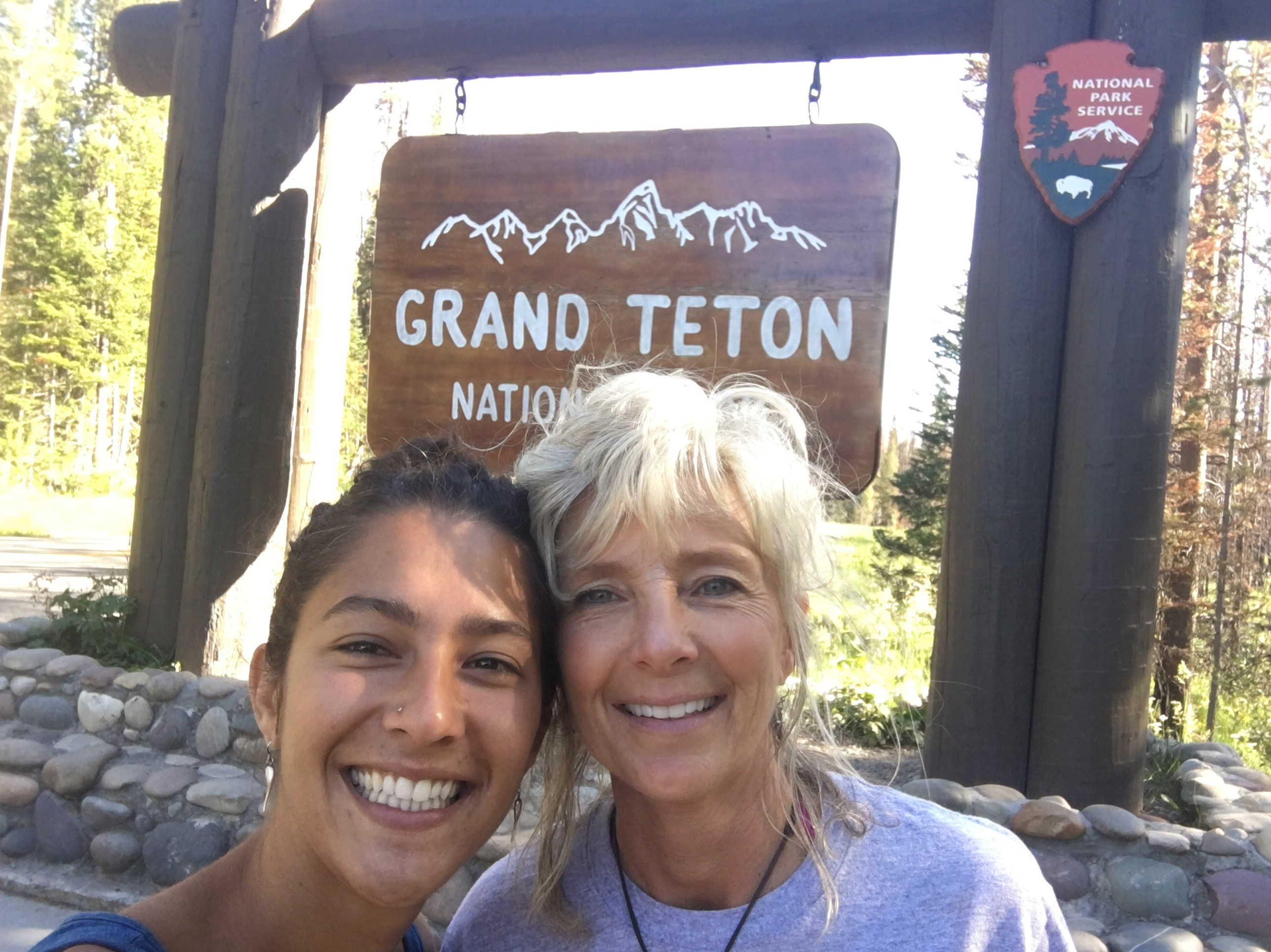 Mom and I ate Grand Teton National Park
